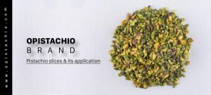 Sliced pistachios and Persian food